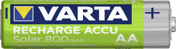 Varta Recharge Accu Solar AA 800 mAH wiederaufladbarer Akku HR6 Mignon NiMh Bulk 56736