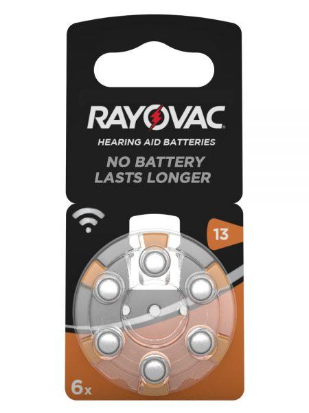 Rayovac Acoustic Special Gr. 13 Hörgerätebatterien 6er Blister PR48 Orange 1,45V