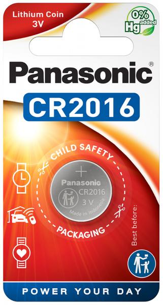 Panasonic Knopfzelle Lithium CR2016 1er Blister 3V CR-2016EL/1B