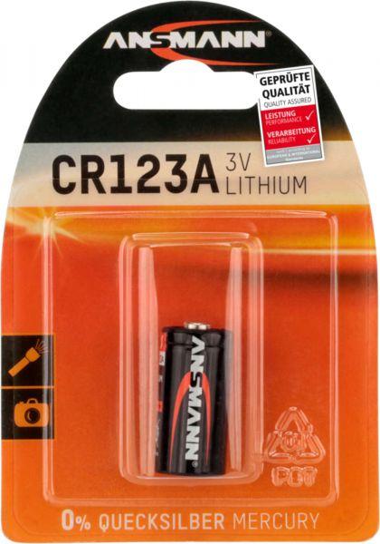 ANSMANN Lithium Power Photo Batterie 3V CR123 1500 mAh CR17335 1er Blister CR123A