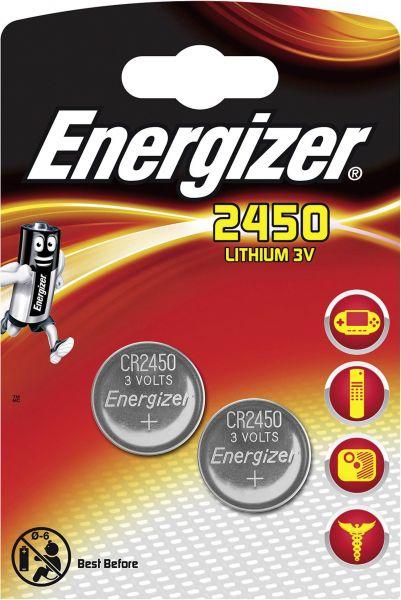 Energizer ECR2450 Lithium 3V Zelle 2er Blister CR2450 IEC C Knopfzelle