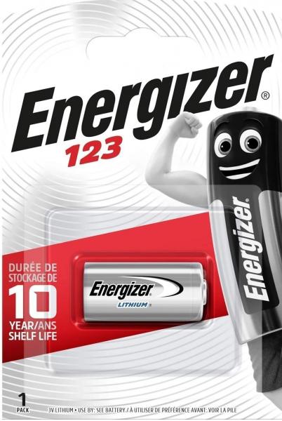 Energizer Fotobatterie CR123 3V Lithium 1er Blister CR123A 123
