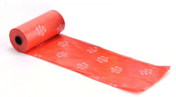 EWANTO Hundekotbeutel bunt mit Aufdruck Rolle mit 15 Beutel HA-42