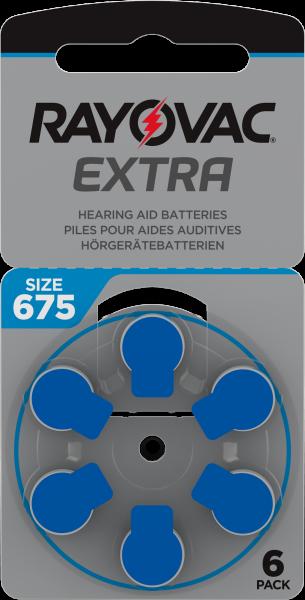Rayovac Extra Advanced Gr. 675 Hörgerätebatterien 6er Blister PR44 Blau 24600 675AUX-6XEMF