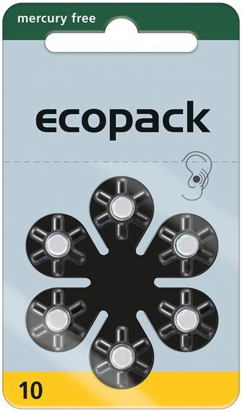 Varta ecopack Gr. 10 Hörgerätebatterien 6er Blister Gelb 1,4V 24610
