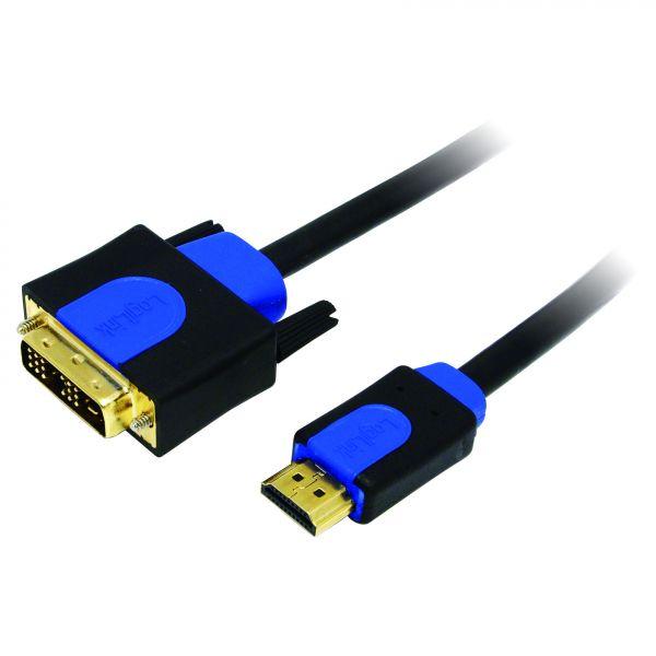 LogiLink HDMI / DVI Cable 1.4, black, 1M