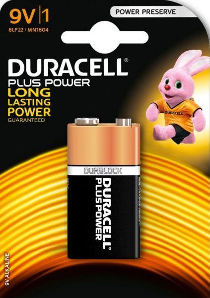 Duracell 9V Block MN1604 6LR61 Plus Power 1er Blister