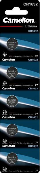 Camelion Lithium Knopfzelle CR1632 1632 3V 5er Blister CR1632-BP5