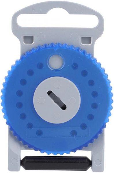 EWANTO 16er Box HF-4 Cerumenfilter WaxGuards wie AS Audio Service mit einem Filter-Wechselstift, Wachsschutz, WaxStop, Ohrenschmalzfilter Cerumen Filter für Hörgeräte (HF4 - Blau Linke Seite) HA-03