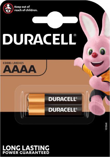 Duracell Specialty Alkaline AAAA Batterien 1,5 V 567 mAh 2er Blister LR8D425 MX2500