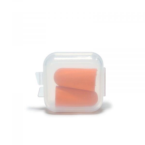 EWANTO Ohrstöpsel Gehörschutz aus buntem Schaumstoff mit Aufbewahrungsbox 1 Paar HA-44