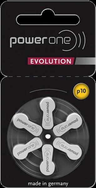 Varta Power One EVOLUTION Gr. 10 Hörgerätebatterien 1,45 V 6er Blister PR70 Gelb p10