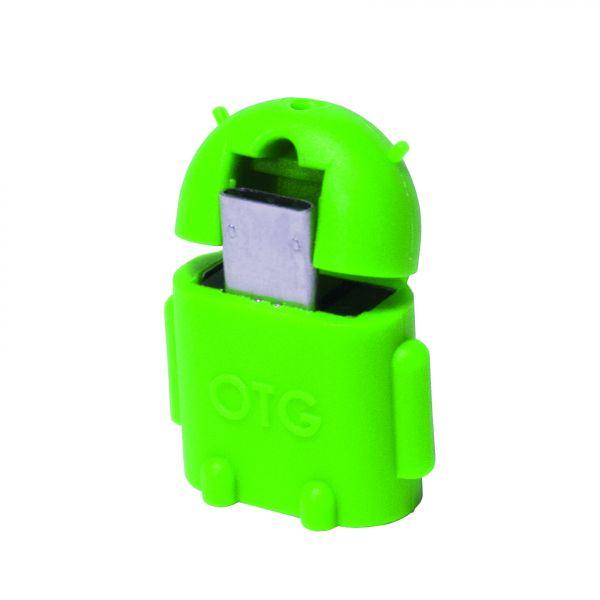 LogiLink Mini Micro USB B/M to USB A/F OTG adapter, green