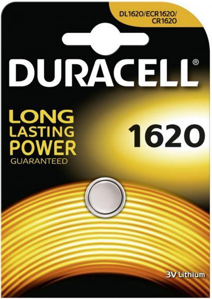 Duracell DL1620 CR1620 1er Blister 3V Knopfzelle Batterie