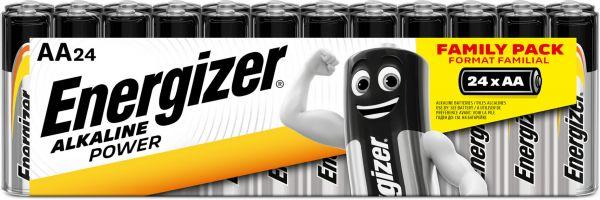 Energizer Alkaline Power AA 24er Shrink Mignon Batterie 1,5V LR06 E301594100