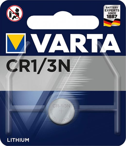 Varta CR1/3N Lithium Batterie 3 V 170 mAh 2L76 CR1 3N CR11108 1er Blister 6131