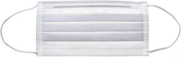 EWANTO Einweg Gesichtsmaske aus Vlies, gegen Tröpfchen, Staub und Luftverschmutzung, Mund-Nasen-Bedeckung, Masken mit Ohrenschlaufen weiß OP-06