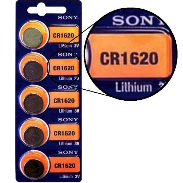 Sony CR1620 5er Blister 3V Batterie Lithium Knopfzelle 97988909