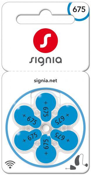 Signia Gr. 675 Hörgerätebatterien 6er Blister PR44 Blau 24600 Sig675 24600313436