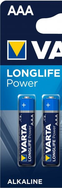 Varta 0,5x Longlife Power AAA Micro Alkaline Batterie 4er Blister ehem. High Energy 4903