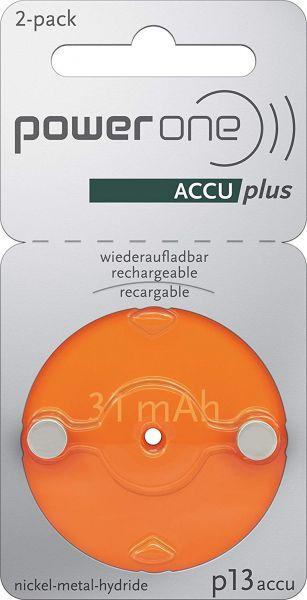 Varta Power One 13 ACCU plus Orange p13 Akku für Hörgeräte NiMH 2er Blister p13