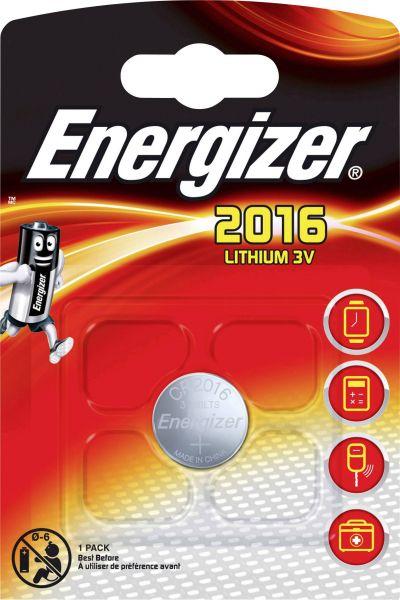 Energizer Lithium 3V Zelle 1er Blister CR2016 IEC C Knopfzelle ECR2016