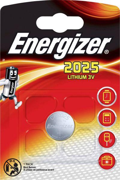 Energizer Lithium 3V Zelle 1er Blister CR2025 IEC C Knopfzelle ECR2025
