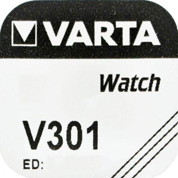 Varta Watch V301 Uhrenzelle Knopfzelle SR 43 SW Silber-Oxid 95 mAh 1,55 V 1er Blister V 301