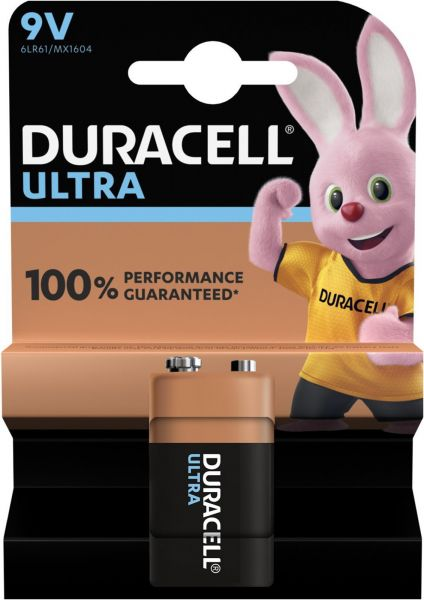 Duracell 9V E-Block 6LR61 Ultra Power 1er Blister Alkaline Transistor MX1604