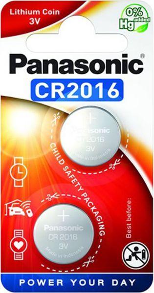 Panasonic Knopfzelle Lithium CR2016 2er Blister 3V CR-2016EL/2B