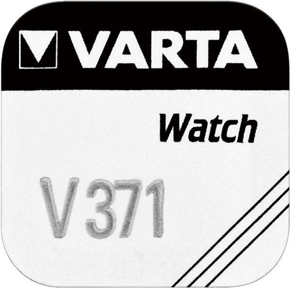 Varta Watch V 371 Uhrenzelle Knopfzelle SR 920 SW V371 Silber-Oxid 30 mAh 1,55 V 1er Blister V 371