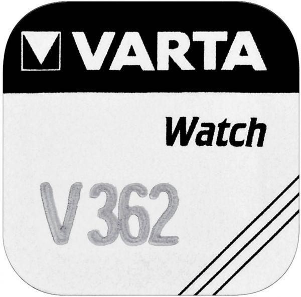 Varta Watch V 362 Uhrenzelle Knopfzelle SR 721 SW V362 Silber-Oxid 21mAh 1,55 V 1er Blister V 362