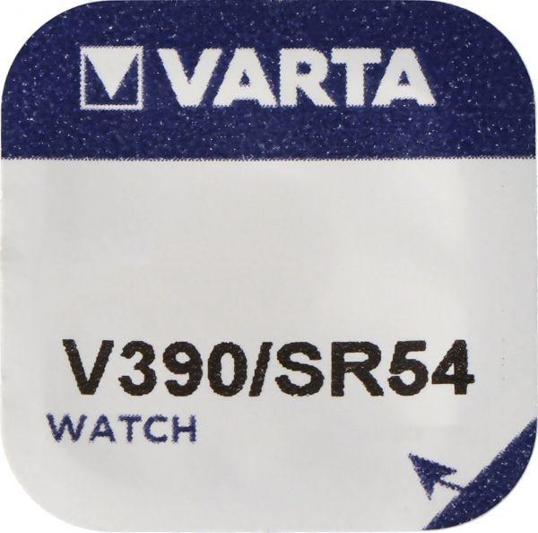 Varta Watch Knopfzelle Silberoxid V 390 1,55V SR 1130 SW Uhrenbatterie Quecksilberfrei 1er Blister V390