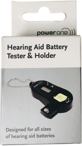 Varta Power One Batterietester für Hörgerätebatterien - mit Aufbewahrungsbox Batteriebox V952