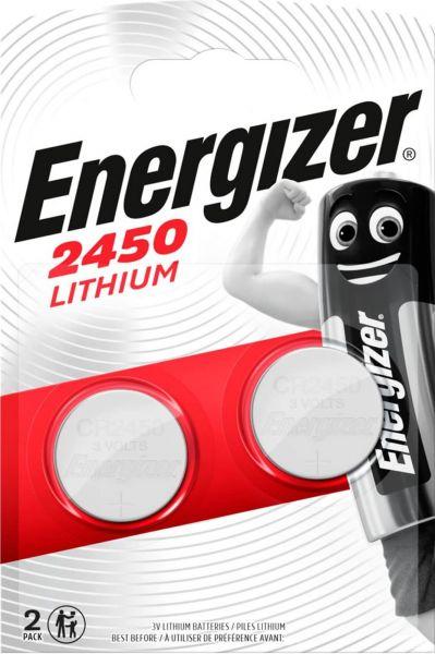 Energizer Lithium 3V Zelle 2er Blister CR2450 IEC C Knopfzelle ECR2450