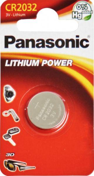 Panasonic Lithium 3V Zelle 1er Blister CR2032 IEC C Knopfzelle CR-2032EL/1B