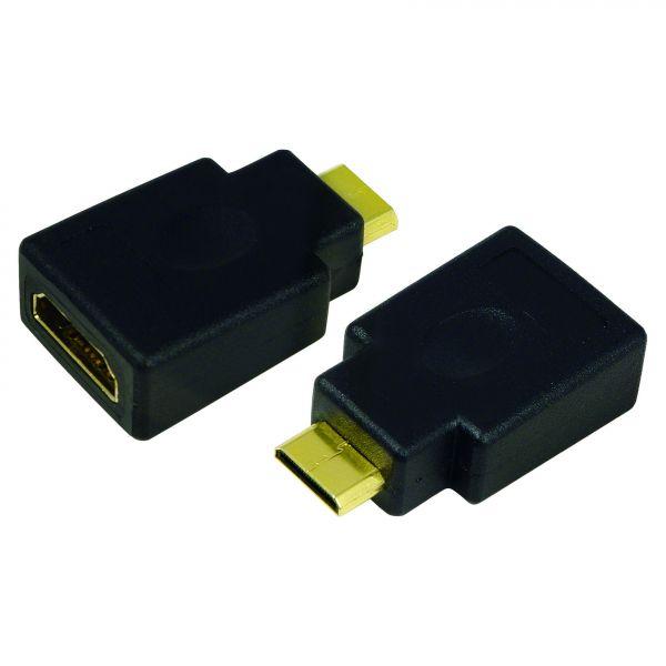 LogiLink HDMI Adapter, HDMI – HDMI mini, AF to CM