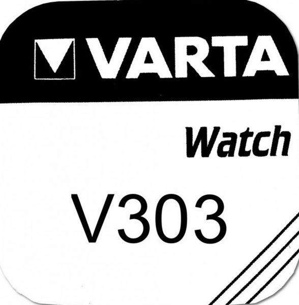 Varta Watch 303 Uhrenzelle Knopfzelle SR 44 SW V303 Silber-Oxid 180 mAh 1,55 V 1er Blister V 303