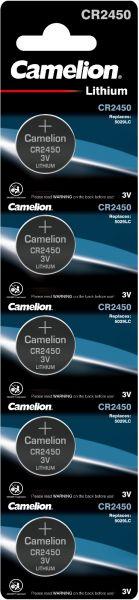 Camelion Lithium Knopfzelle CR2450 2450 3V 5er Blister 13005450