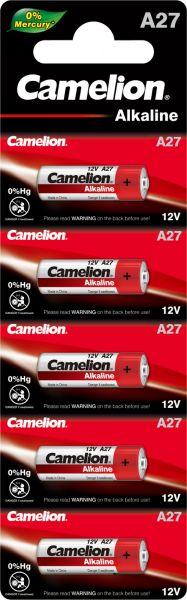 Camelion Alkaline Batterien A27 LR27A 12 V 5er Blister A27-BP5