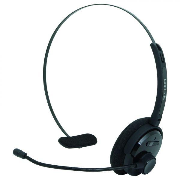 LogiLink Bluetooth Headset, Mono, with headband and microphone