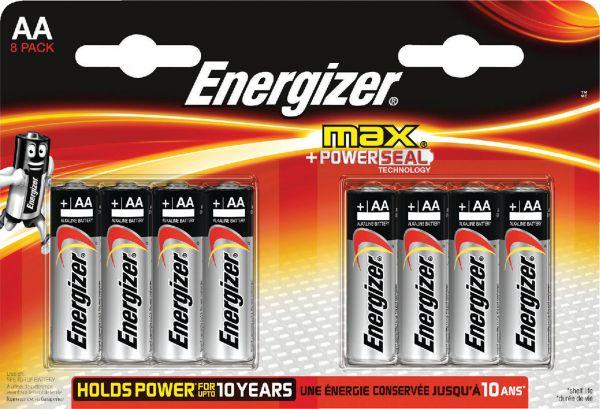 Energizer Max AA 8er Blister Mignon Batterie 1,5V E300112400