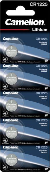 Camelion Lithium Knopfzelle CR1225 1225 3V 5er Blister CR1225-BP5