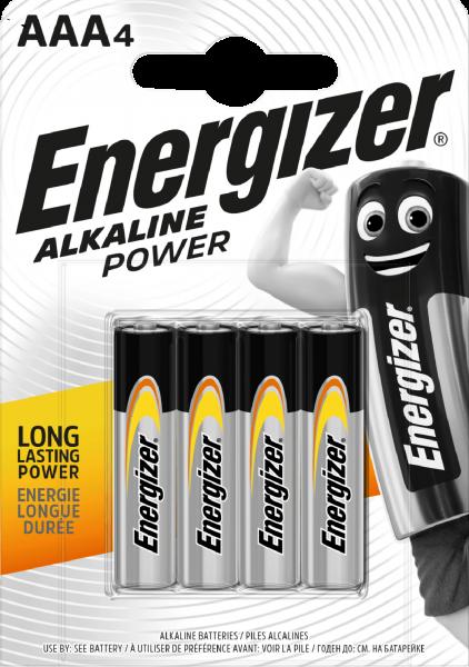 Energizer Alkaline Power AAA 4er Blister Micro Batterie 1,5V LR03 E300132607