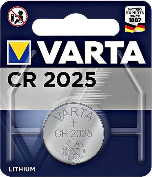 Varta CR2025 1er Blister 3V Batterie Lithium Knopfzelle VCR2025