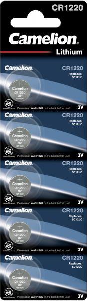 Camelion Lithium Knopfzelle CR1220 1220 3V 5er Blister 13005122