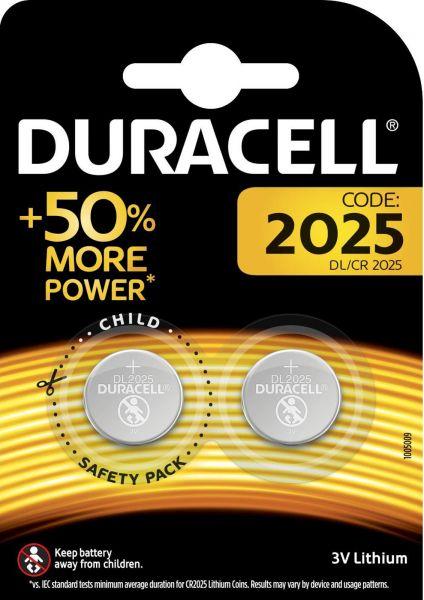 Duracell CR2025 Lithium Knopfzelle 2er Blister 3V DL2025 2025