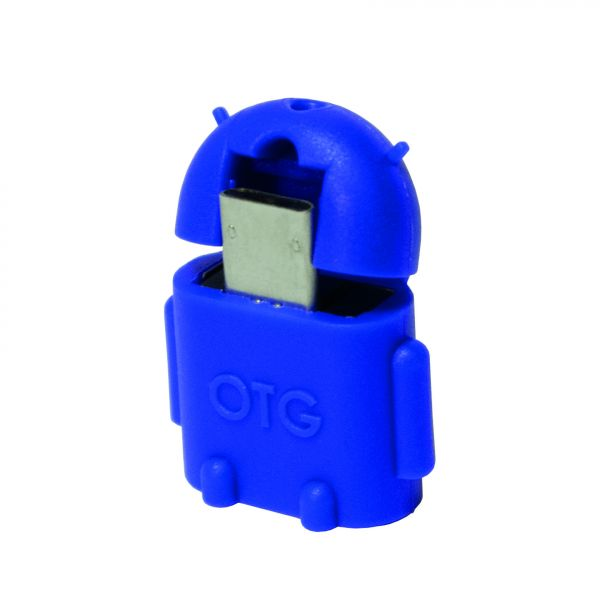 LogiLink Mini Micro USB B/M to USB A/F OTG adapter, blue