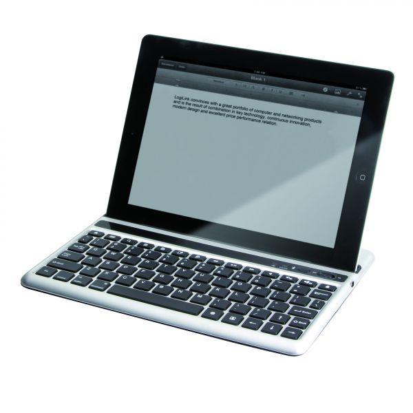 LogiLink Bluetooth Mini Tastatur für iPad2 iPad4 silber
