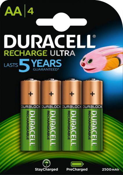 Duracell Recharge Ultra Akku AA HR06 2500 mAh vorgeladen 4er Blister Mignon DX1500
